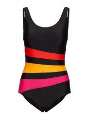 Swimsuit Bianca Classic - BLACK/RED
