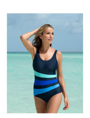 Swimsuit Bianca Classic - NAVY/AQUA