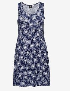 Bamboo beach dress - FLORAL NAVY