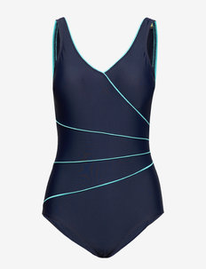 Swimsuit Daniella Classic - swimsuits - navy/aqua