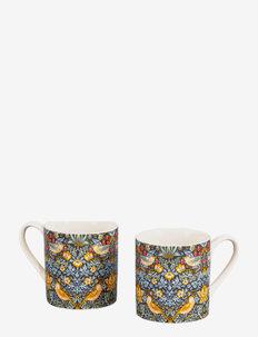Set of 2 Mugs Strawberry Thief - kaffekopper - blue