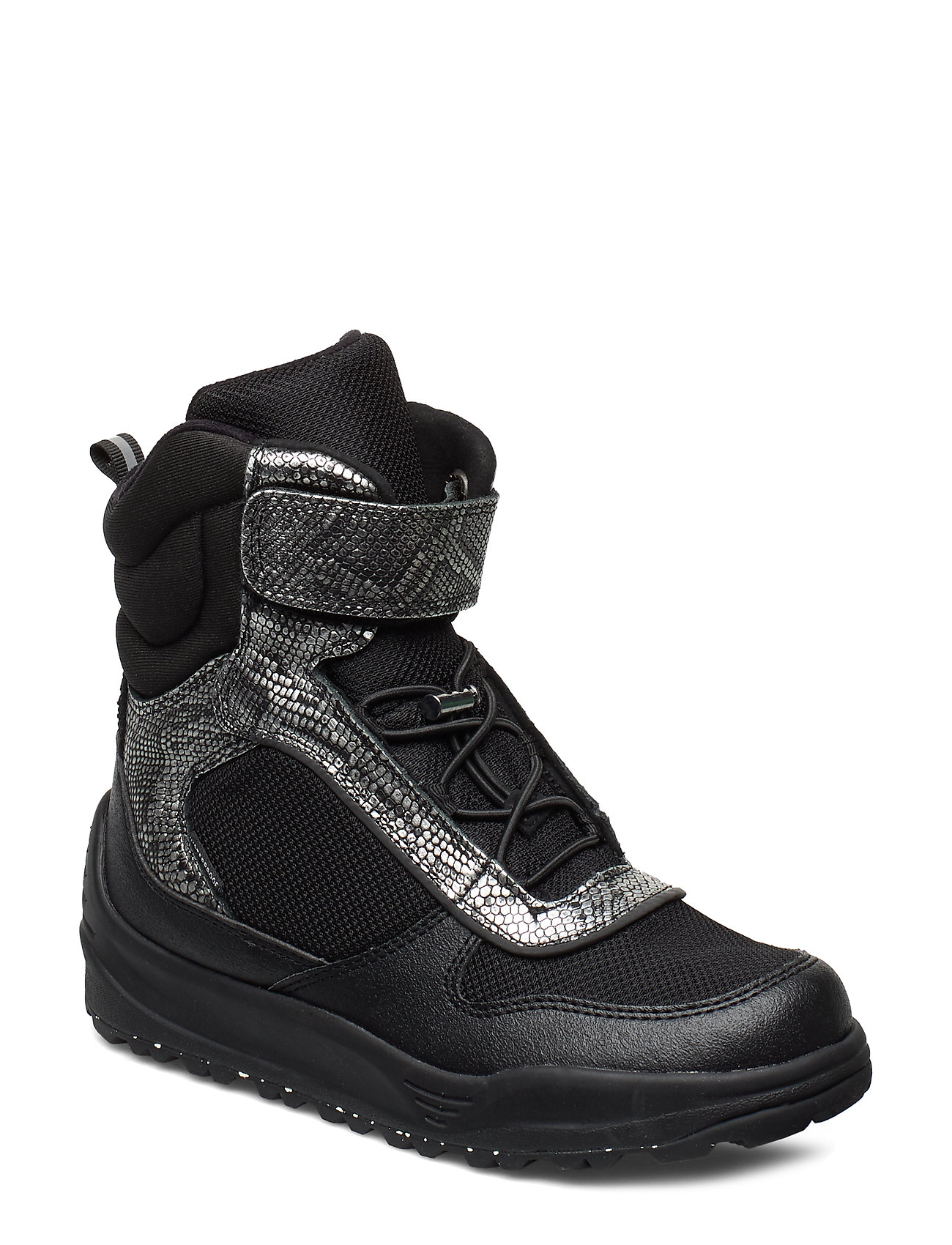Image of Malik Midcut Boot Teen Shoes Boots Ankle Boots Ankle Boots Flat Heel Sort Woden (3267705787)