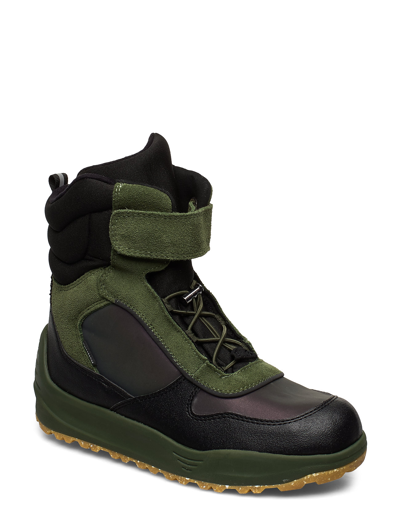 Image of Alex Midcut Boot Teen Shoes Boots Ankle Boots Ankle Boots Flat Heel Grøn Woden (3271517325)
