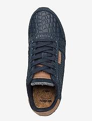Woden - Ydun Croco - lave sneakers - navy - 3