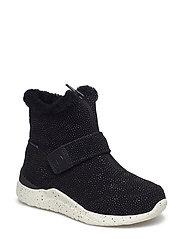 Odina Zipper Boot Kids - BLACK