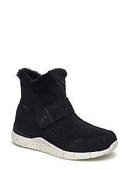 Odina Zipper Boot Teen - BLACK