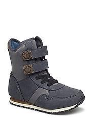 Lauge Leather Boot Kids - DARK SHADOW