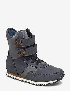 Lauge Leather Boot Teen - DARK SHADOW