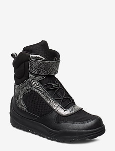 Malik Midcut Boot Teen - BLACK/SILVER