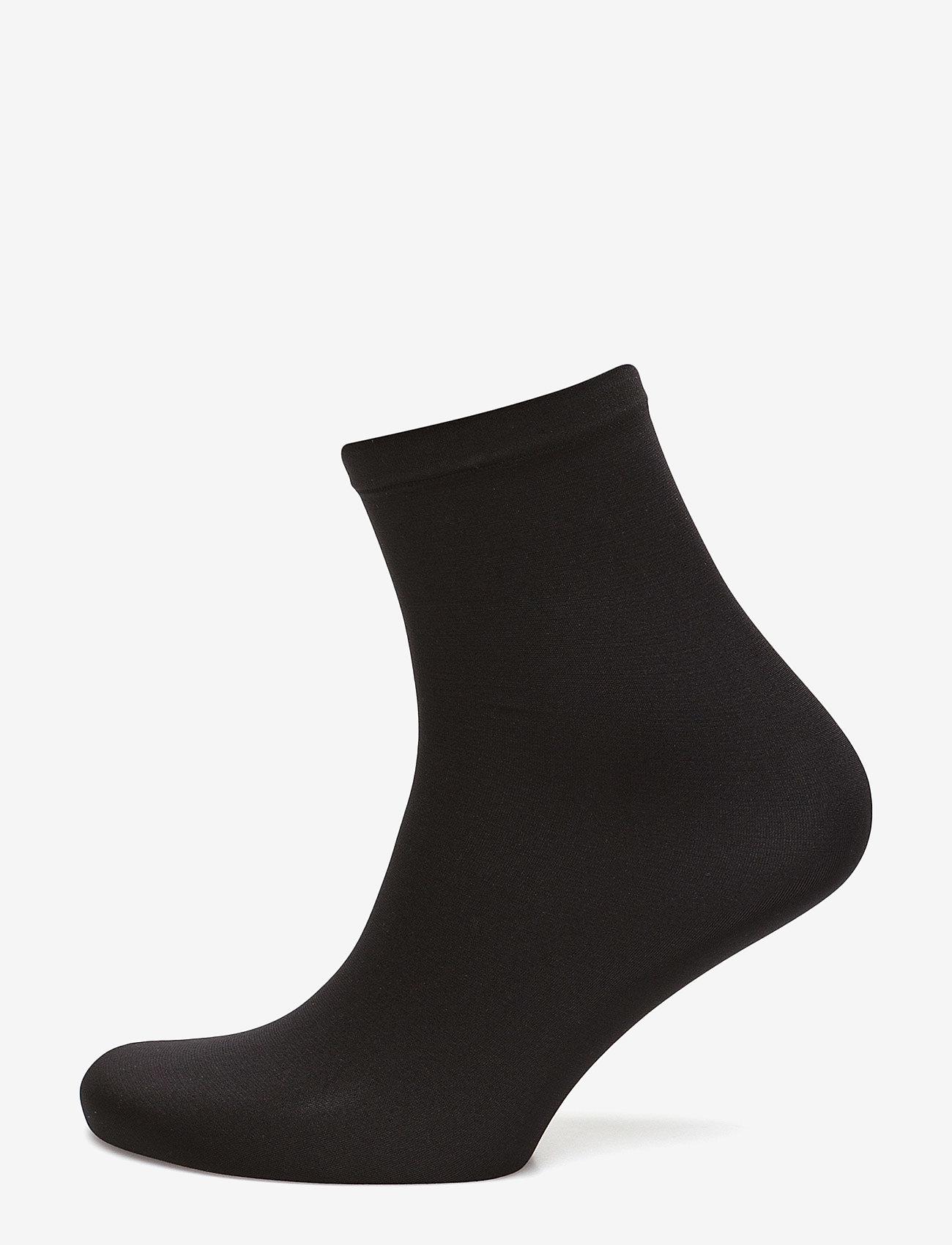 Wolford - Velvet 66 Socks - strømper - black - 0