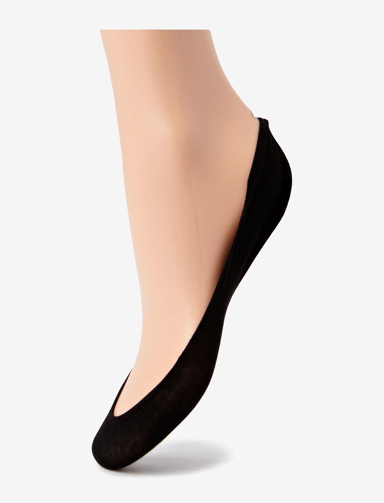 Wolford - Cotton Footsies Socks - ankelsokker - black - 0
