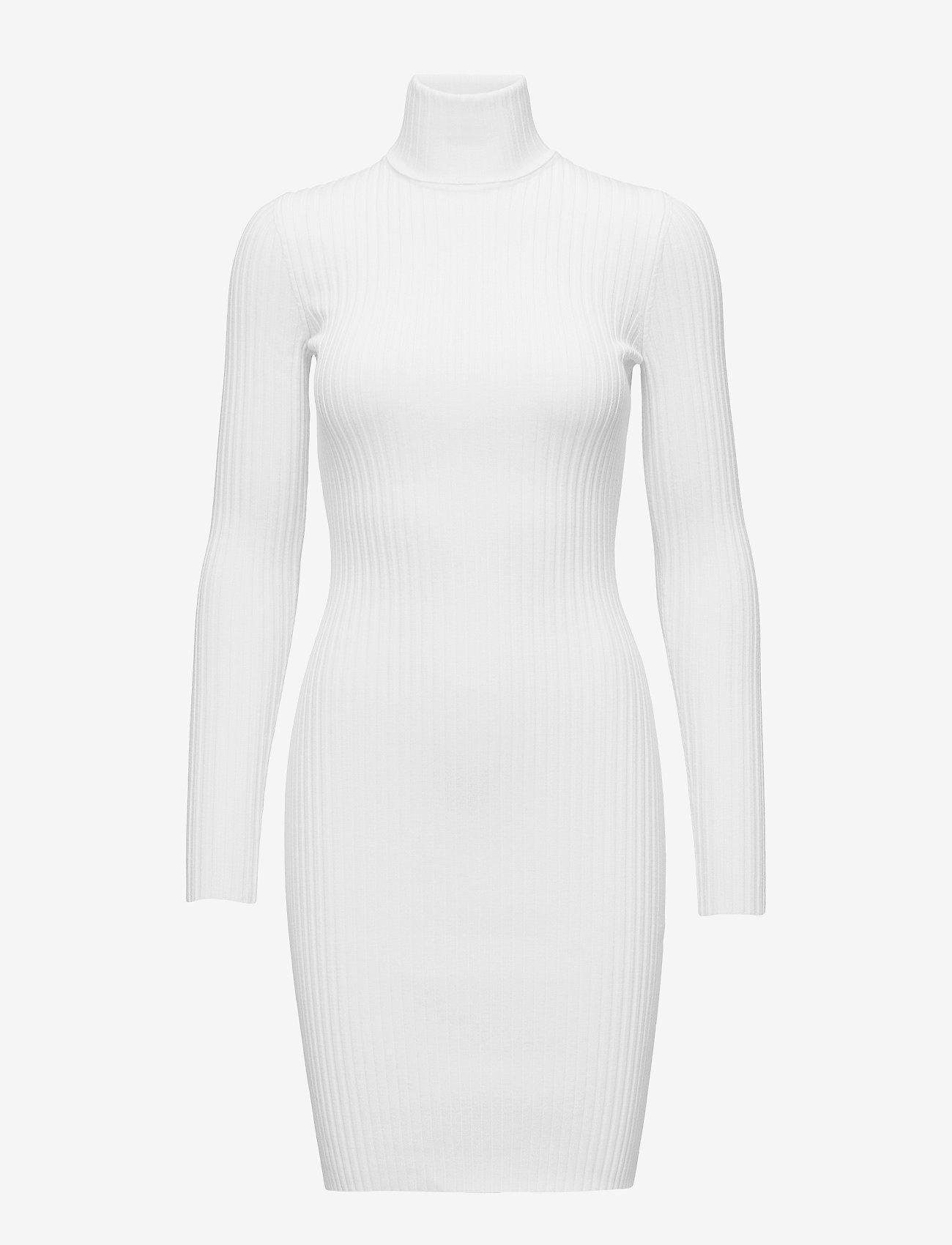 Wolford - Merino Rib Dress - bodycon kleitas - ecrue - 0