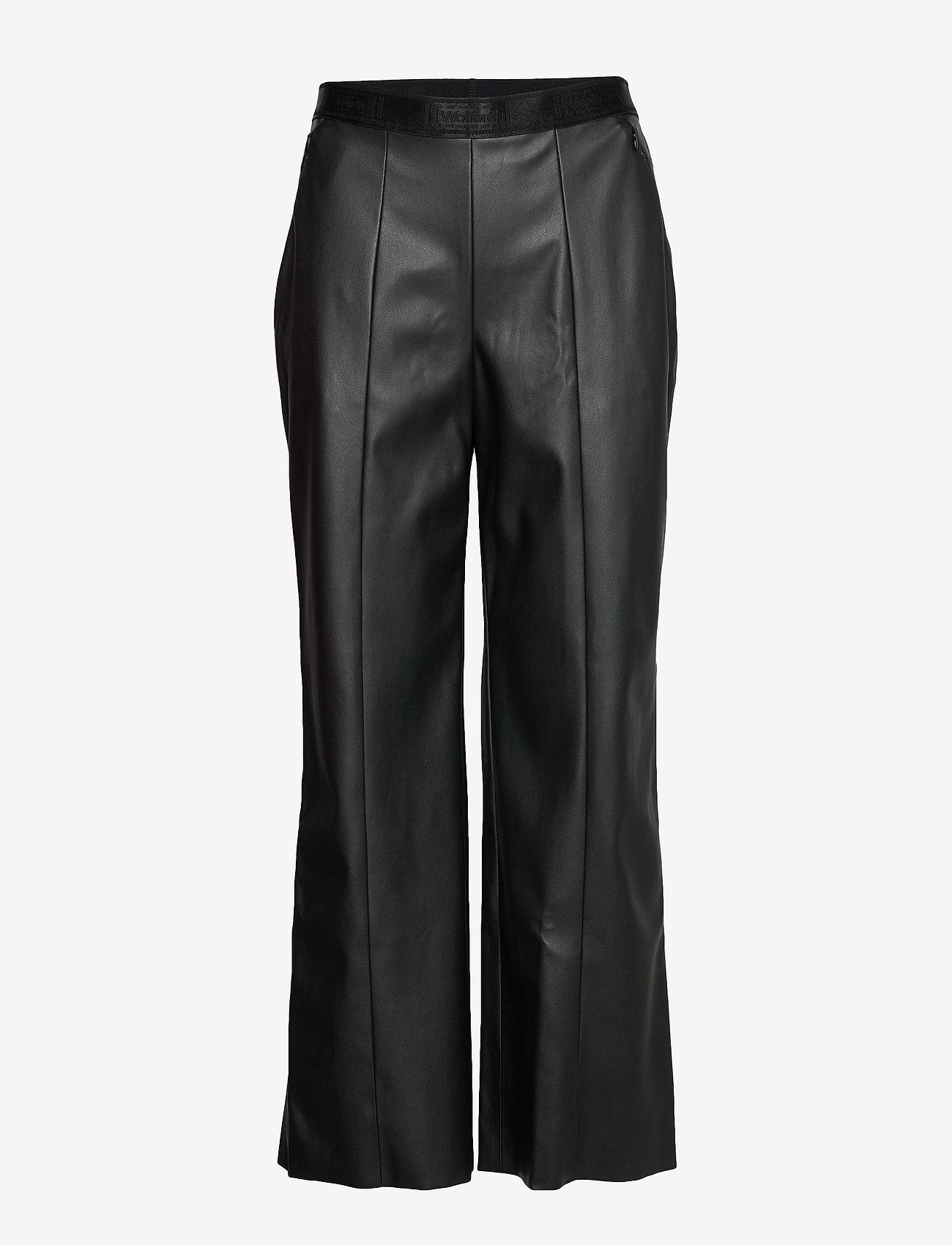 Wolford - Estella Trousers - bukser med brede ben - black - 0