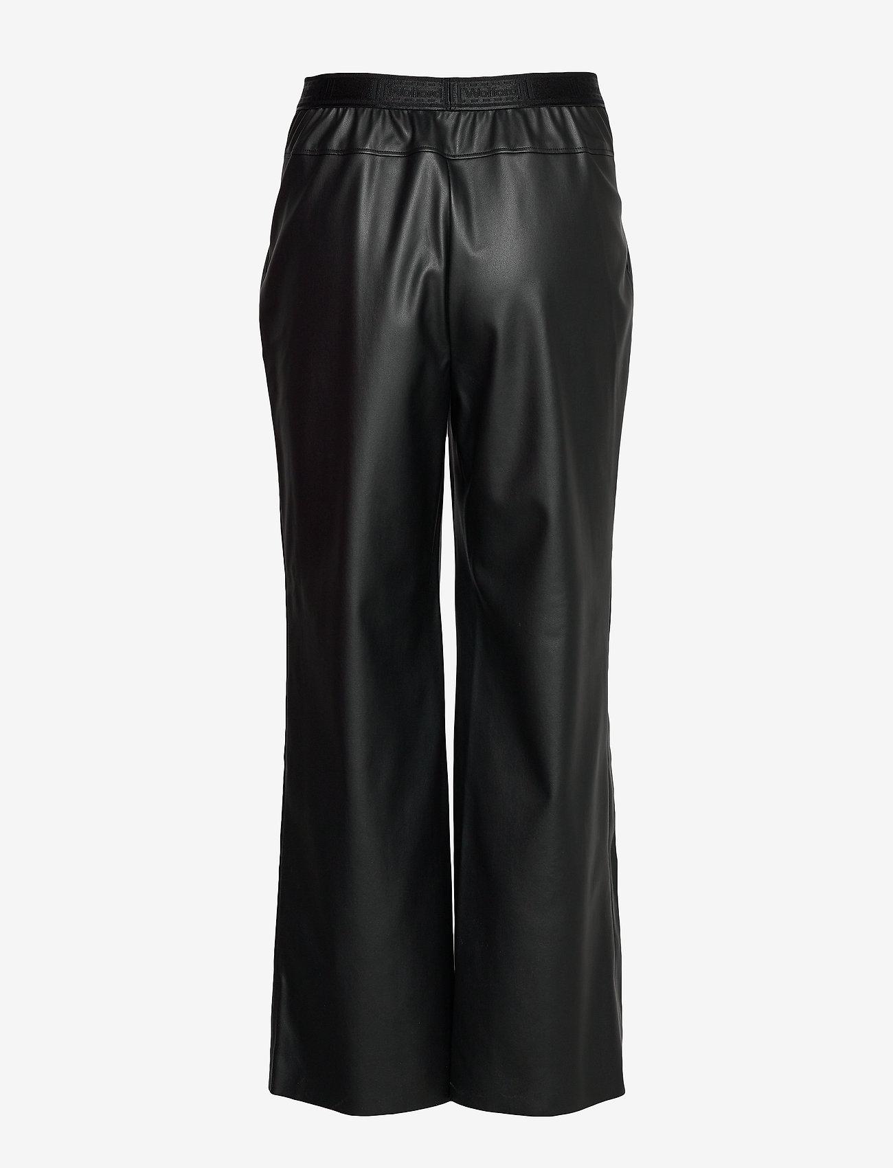Wolford - Estella Trousers - bukser med brede ben - black - 1