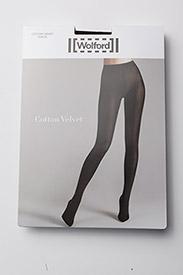 Wolford - Cotton Velvet Tights - basic strumphosen - black - 2