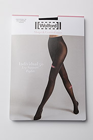 Wolford - Individual 50 leg support - zeķbikses - black - 2