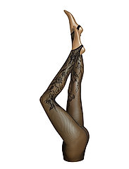 Wildflower Net Stirrup Tights - BLACK