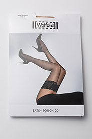 Wolford - Satin Touch 20 Stay-Up - mønster - cosmetic - 2