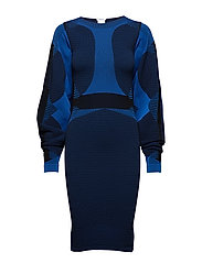 Trinity Dress - ELECTRIC BLUE/BLACK