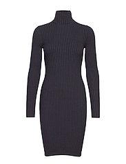 Merino Rib Dress - BLACK