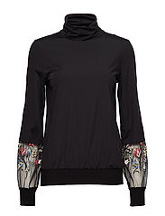 Wildflower Embroidery Pullover - BLACK