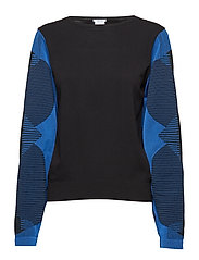 Trinity Knit Pullover - BLACK/ELECTRIC BLUE