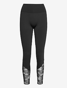 Perfect Fit Lace Leggings - leggings - black/black