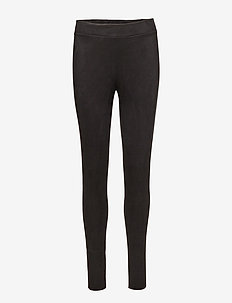 Velour Leggings - leggings - black