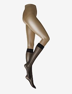 Satin Touch 20 Knee-Highs - BLACK