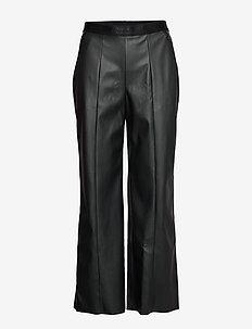 Estella Trousers - bukser med brede ben - black