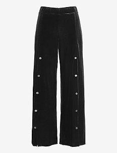 Blake Trousers - bukser med brede ben - black