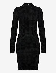 Cassidy Dress - strikkede kjoler - black/black
