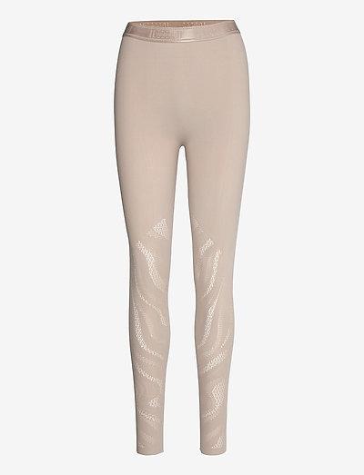 Thalia Net Leggings - leggings - clay