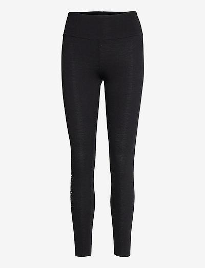 Logo Script Leggings - leggings - black/white