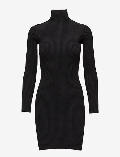 Viscose Rib Dress - stramme kjoler - black
