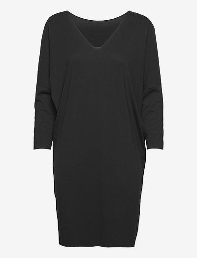 Aurora Pure Cut Dress - hverdagskjoler - black