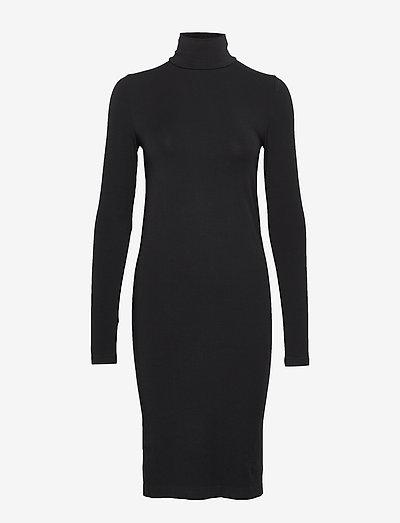 Aurora Dress - stramme kjoler - black