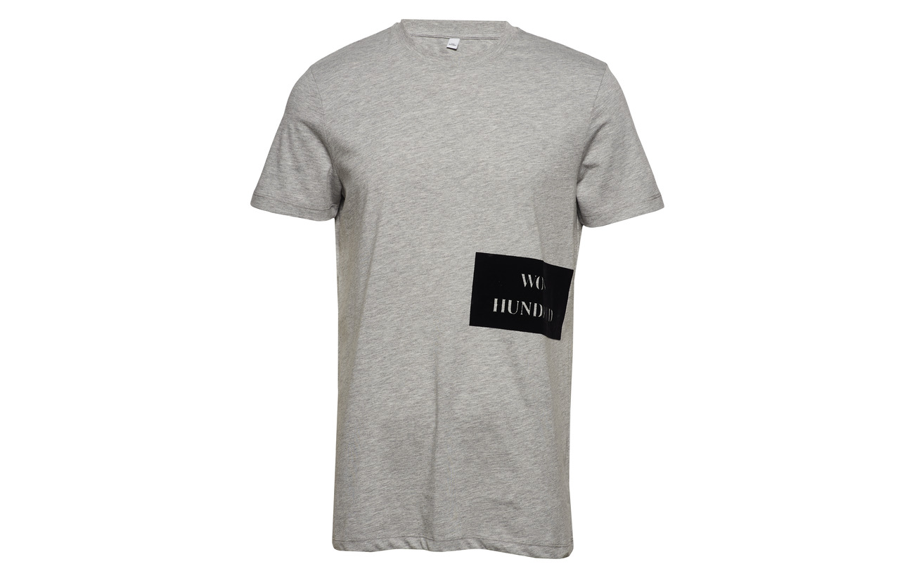 Logo Troy Wh Melange Print Hundred Won Grey qpw5IABnx