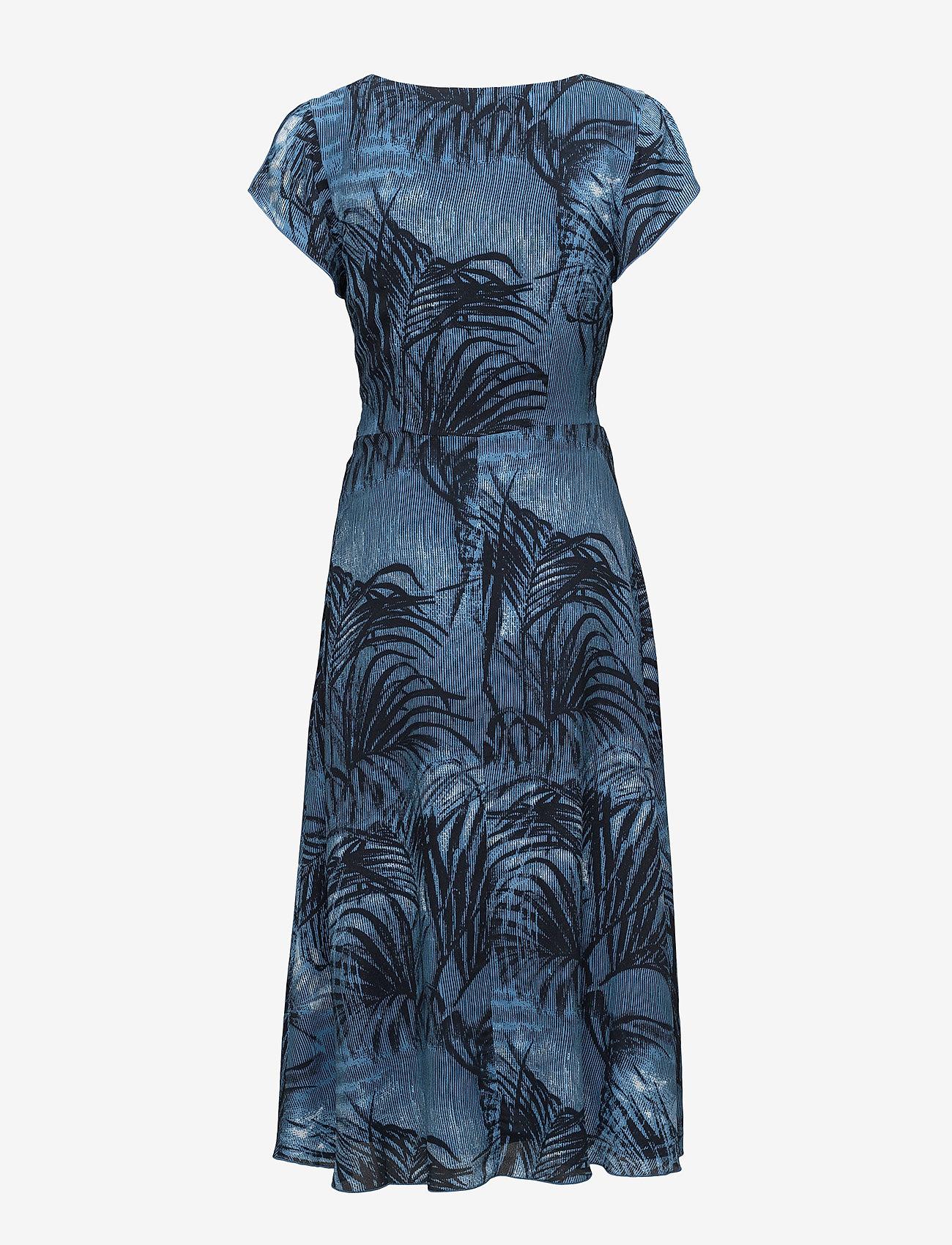 Won Hundred - Dagmar - midimekot - palm tree aop blue
