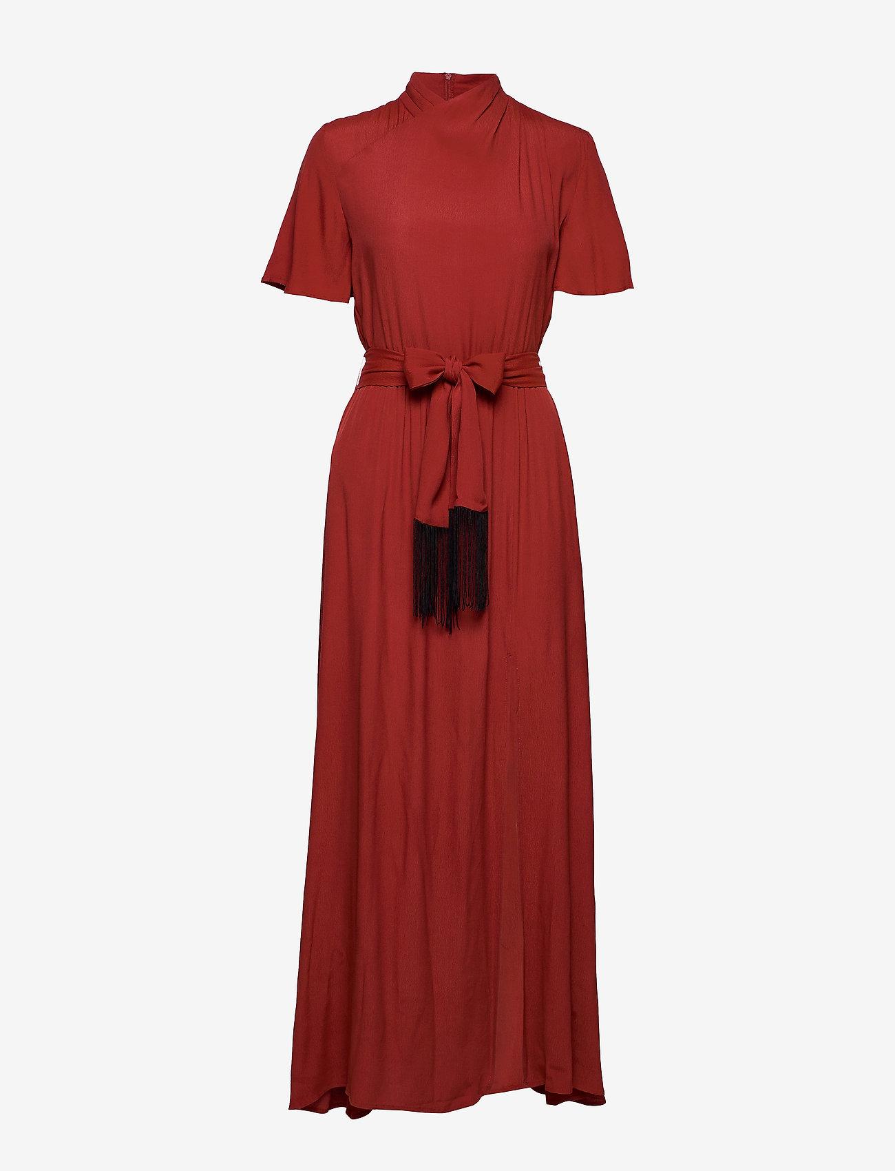 Won Hundred - ELENA LONG - maxi dresses - rusty red