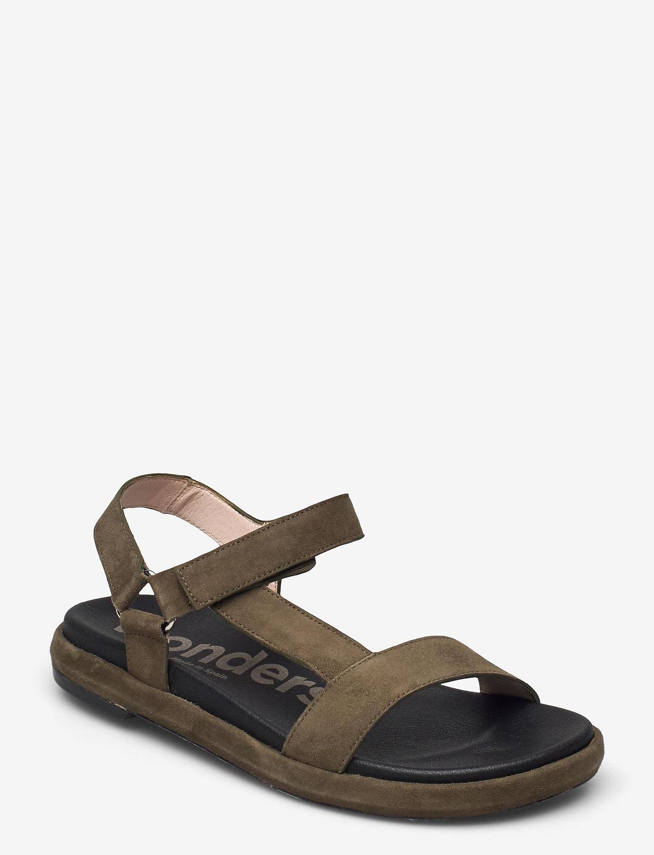 Wonders - B-7410-F ANTE - platta sandaler - green - 0