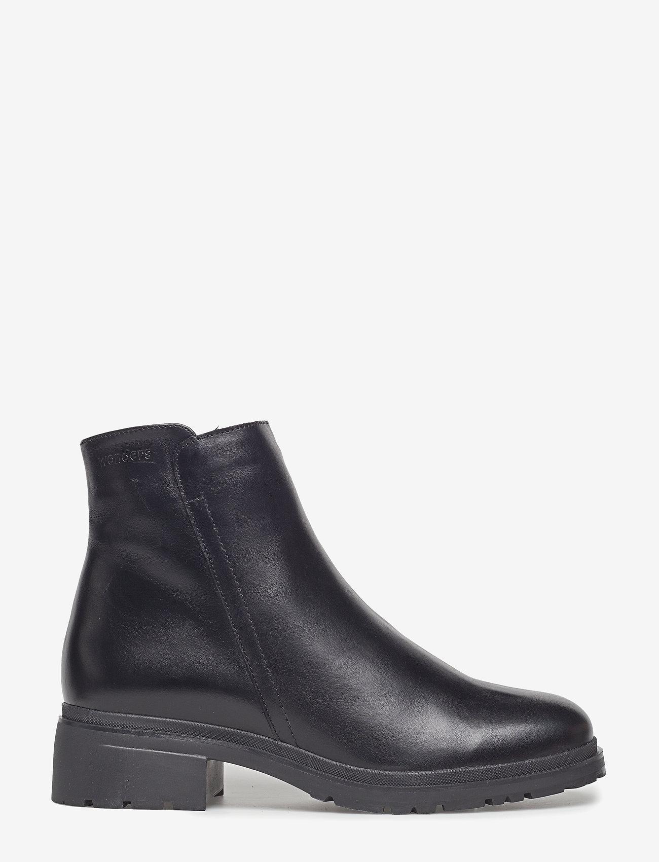 Wonders - Warm lamb fur lining C-4829-M - flat ankle boots - oregon f.m negro - 1