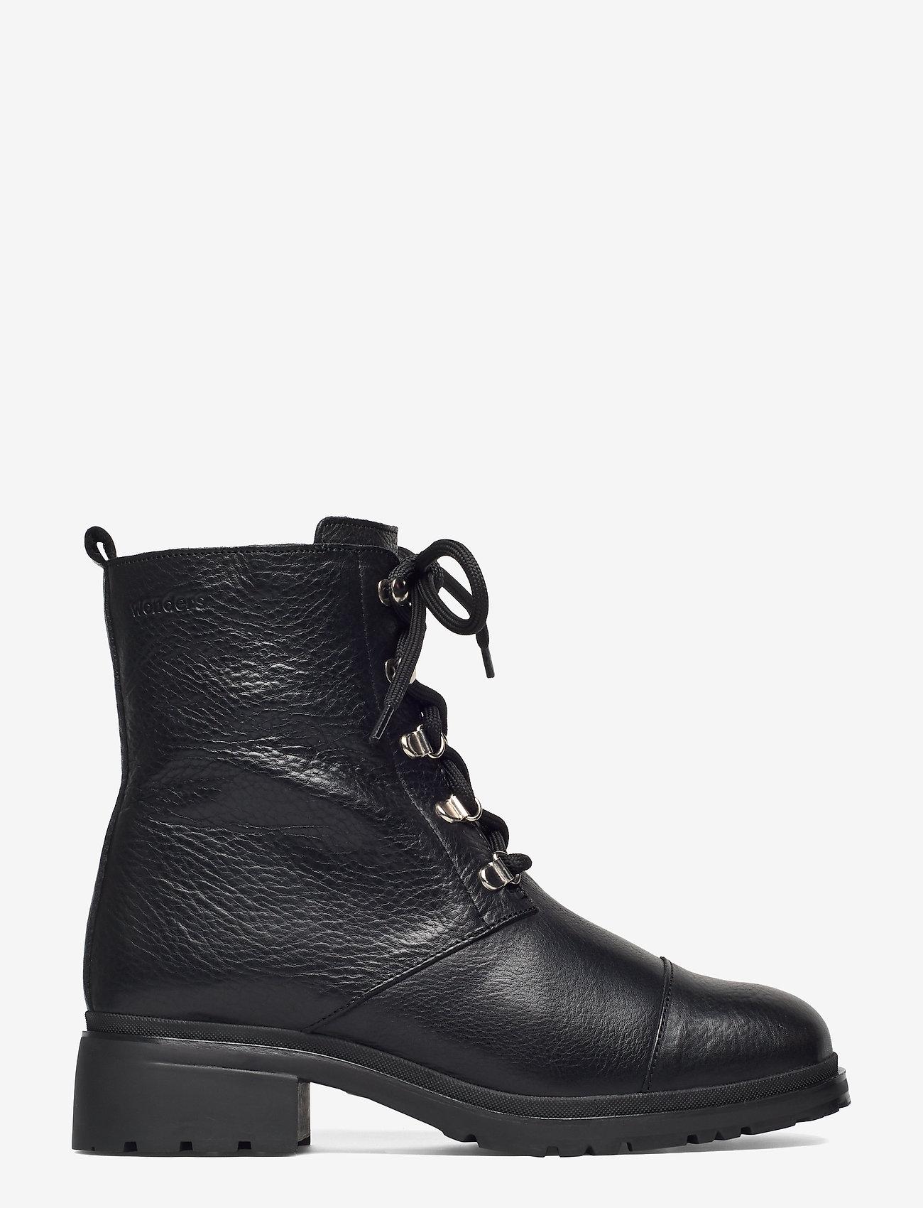 Wonders - C-4841-M - flat ankle boots - black - 1
