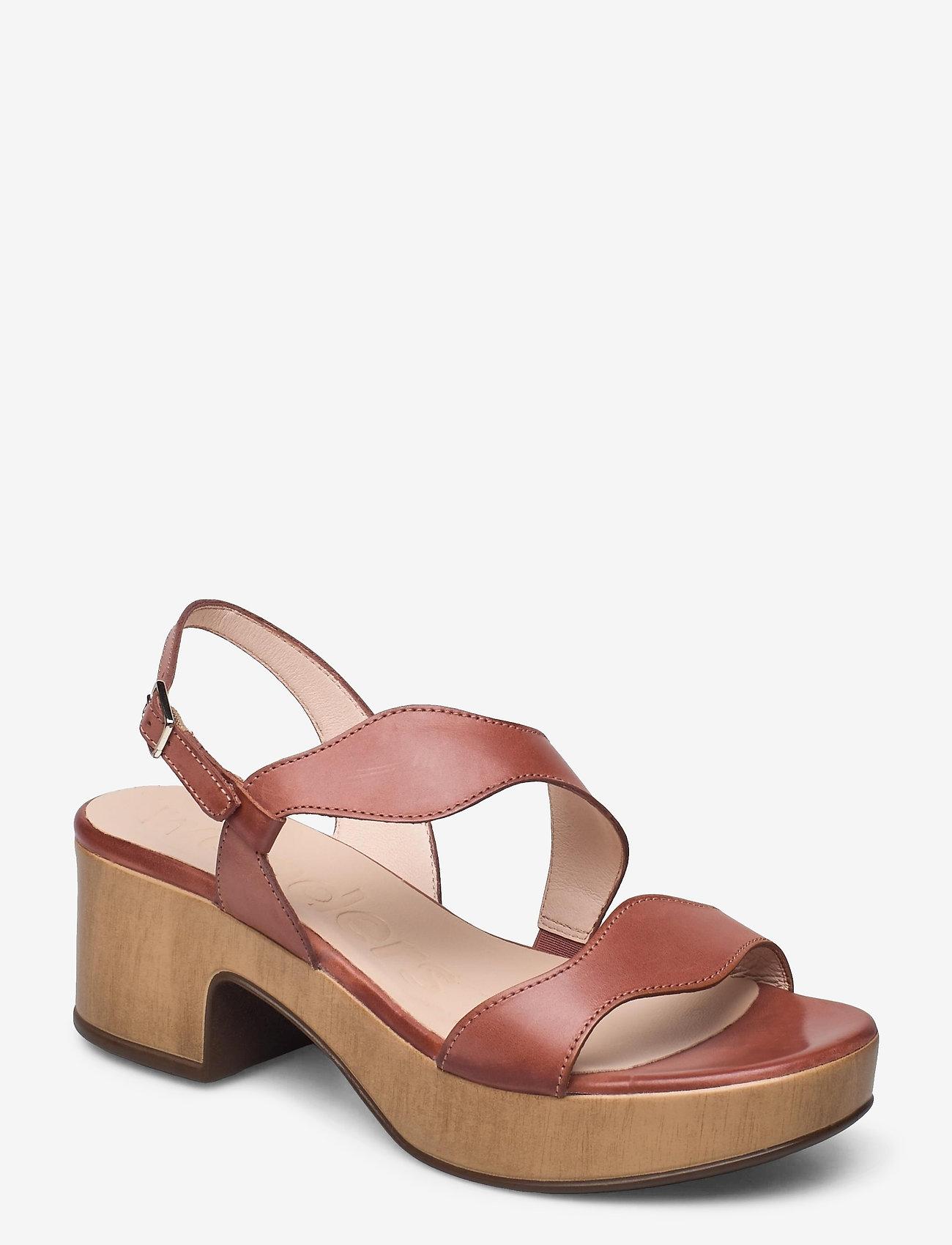 Wonders - D-8813-P PERGAMENA - högklackade sandaler - brown - 0