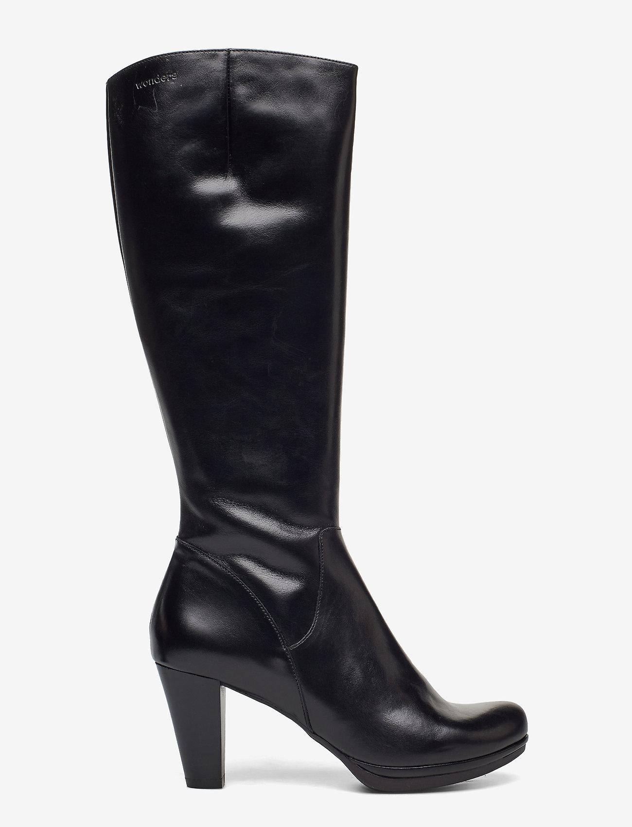 Wonders - I-4930 - lange laarzen - black - 1