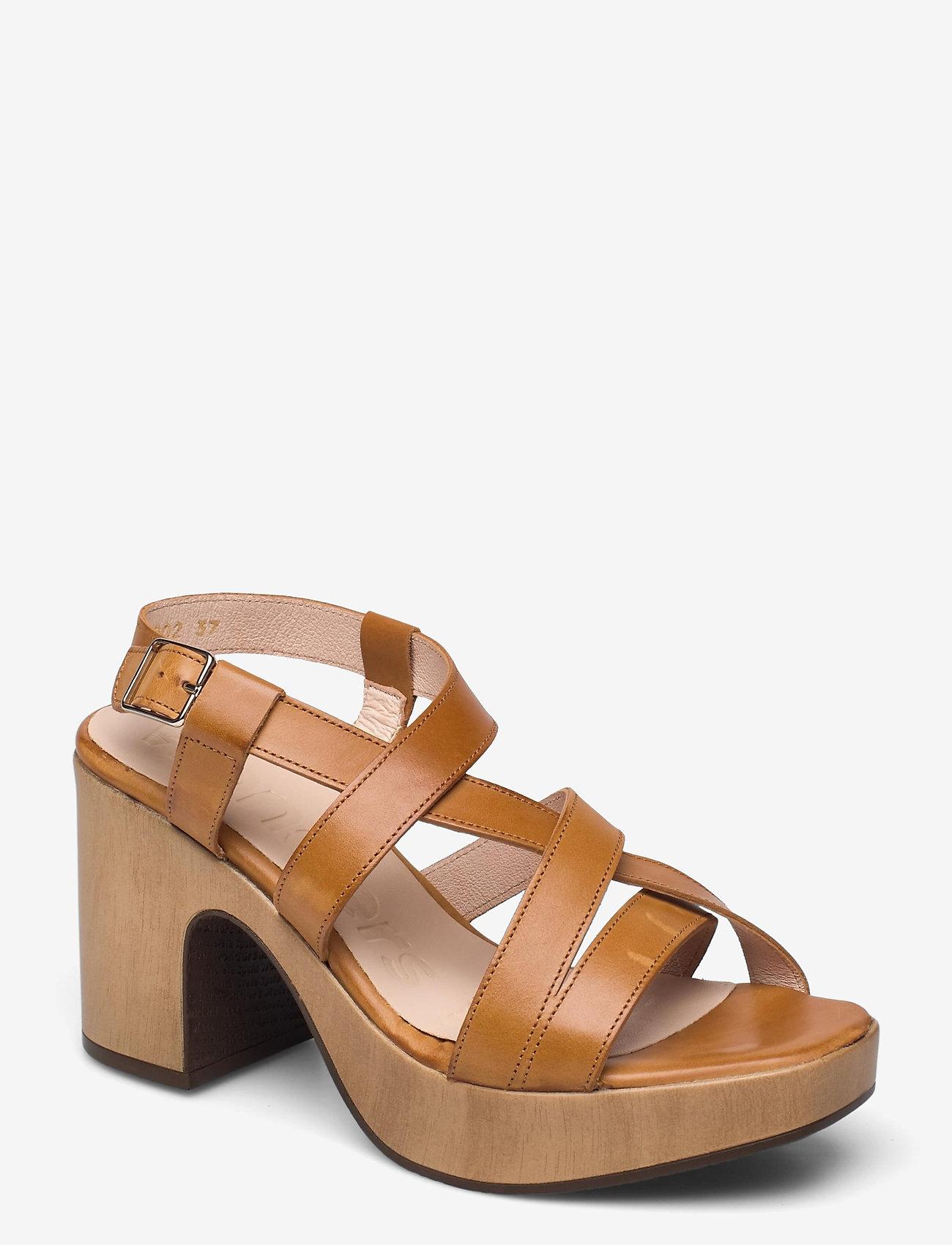 Wonders - L-1002 PERGAMENA - högklackade sandaler - brown - 0
