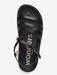 Wonders - B-7412 PERGAMENA - platta sandaler - black - 3