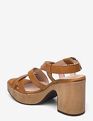 Wonders - L-1002 PERGAMENA - högklackade sandaler - brown - 2