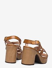 Wonders - L-1002 PERGAMENA - högklackade sandaler - brown - 4