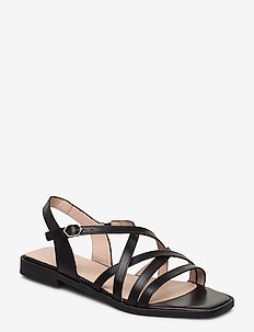 A-1401 - płaskie sandały - black